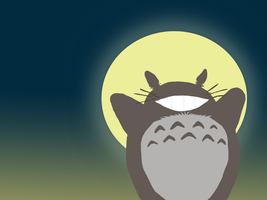 Totoro Wallpaper by shelle-chii