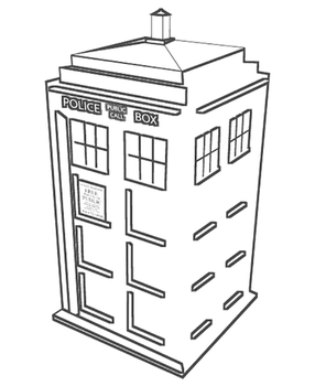 Doctor who favourites by morpheus cf on deviantart for Tardis coloring pages