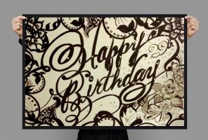 Happy Birthday Typography Card Design2014 by olicica2002