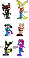 All My Sonic Characters by DrDoomy