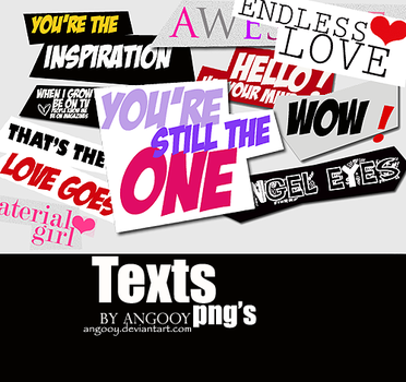 Texts png's by ANGOOY
