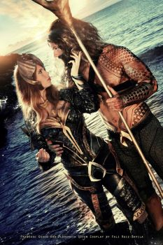 Mera and Aquaman - DC Comics by FioreSofen