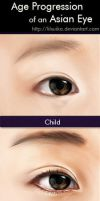 Age Progression of an Asian Eye by lilsuika