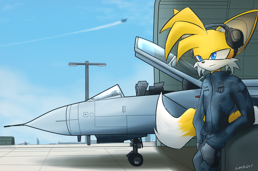Tails and his Tornado by oLEEDUEOLo