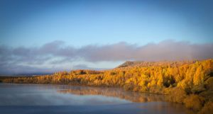 Autumn morning (siberia lakes series) by Valentin-Gl