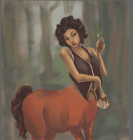Female Centaur WIP3 by kraveon