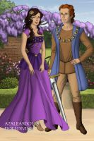 Tudor Disney Couples Hercules and Megara by SerenDippityDooDah