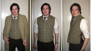 Tweed Vest by KingNapoleon