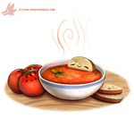 Daily Paint #1083. Tomato Soup by Cryptid-Creations