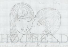 Kisses for you my love 1 - sketch by Hoejfeld