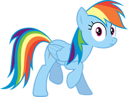 Rainbow Dash Vector 2 by scrimpeh