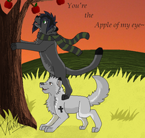 Apple of my Eye by boxes-of-foxxes