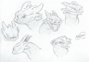 Toothless Studies by SharpDressedReptile