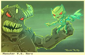 Monter Vs Hero by rickrd