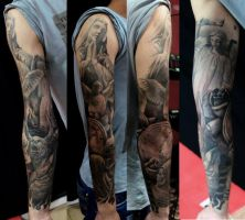 heaven and hell sleeve by AndreySkull