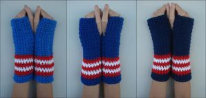 Captain America Armwarmers by RebelATS