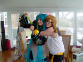 Okay Green is the enemy Miku and Rin! by KatintheAttic