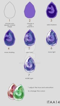TUTO :how to draw jewel/crystal by iTHAR14