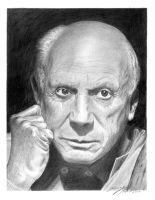 Pablo Picasso by hartr