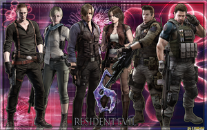 WALLPAPER RESIDENT EVIL 6 (V2) by Ludzark