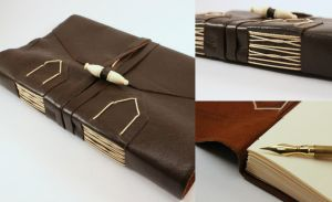 Brown Leather Journal by GatzBcn