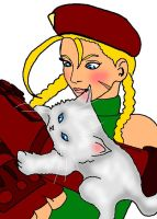 Cammy_with_kitty by YinYanks-YangYips