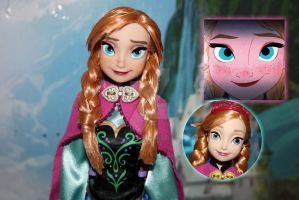 Disney Anna Repaint by claude-on-the-road