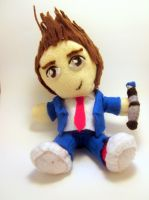 10th Doctor Plushie by kayzebra