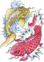 koi fish collab work by JOVictory