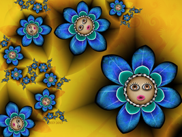 Baby Girl Flowers by 21citrouilles