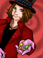Willy Wonka - Want some candy? by enidfreyr