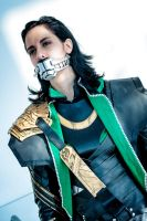 Loki Cosplay : Bound, gagged, not dead yet by Abessinier
