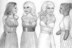Pauline, Holly, Abigail and Cassie by ibdev