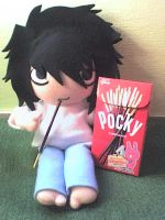 L and Pocky by VioletLunchell