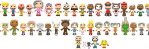 Street Fighter X Tekken Sackboys by ChrisFClarke