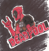::Marker:: Deadpool by firebladecatcalie