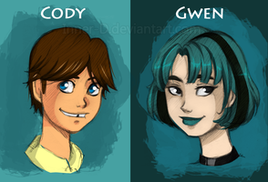 TDI: Cody and Gwen Sketches by Inner-D