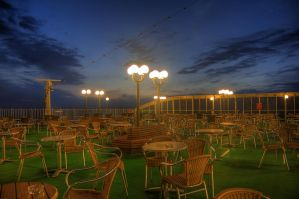 Sun Deck at Night II by HenrikSundholm