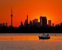 Sunset Sail Ashbridges Bay Toronto Canada by thelearningcurve-da