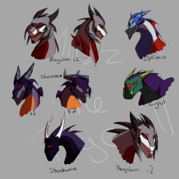 Crossover 2-headshots by JazzTheTiger