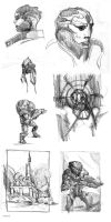 mass effect sketch practice by Spiritius