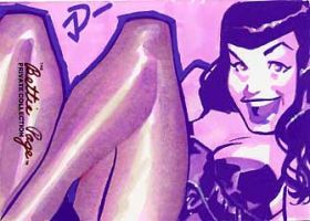 Betty Page Sketchcard 4 by sobad-jee