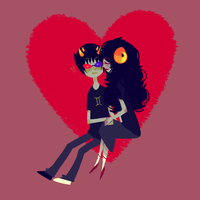aradia and sollux by pastingcorners