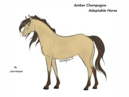 Amber Champagne Horse Adoptable by Julia-adopts
