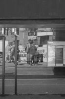 Reflection in Bus Stop by SlamDunkin