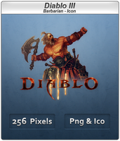 Diablo III - Barbarian Icon by Crussong