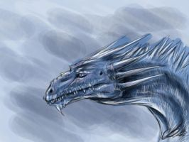 Blue Haze Ice Dragon by AoiKita