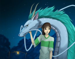 Spirited Away Fan Art by SecretlyDreamer