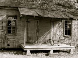 southern front porch by DramaQueenB