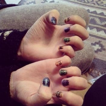 Tribal Patterned nails by Iszy-chan